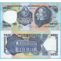 Уругвай 50 новых песо 1987 год.