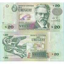 Уругвай 20 песо 2008 год.
