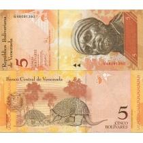 Венесуэла 5 боливаров 2007 год.