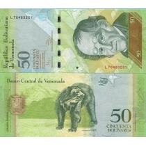 Венесуэла 50 боливар 2011 г.