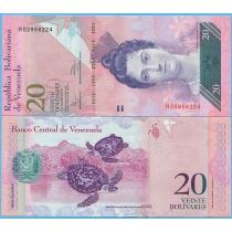 Венесуэла 20 боливар 2011 г.