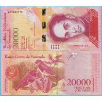 Венесуэла 20000 боливар 2016 год.