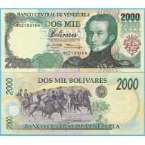 Венесуэла 2000 боливаров 1997 год.