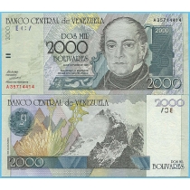 Венесуэла 2000 боливаров 1998 год. Литера А.
