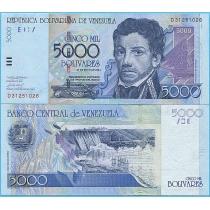 Венесуэла 5000 боливаров 2004 год.