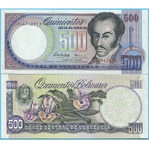 Венесуэла 500 боливаров 1998 год.