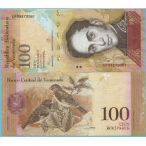 Венесуэла 100 боливар 2015 год.