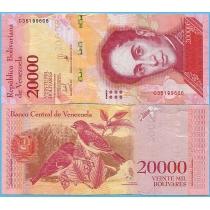 Венесуэла 20000 боливар 2017 год.