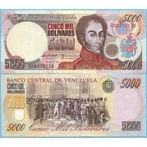 Венесуэла 5000 боливар 1998 год.