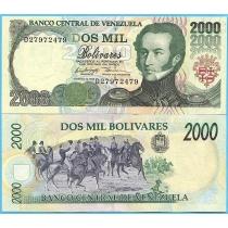 Венесуэла 2000 боливар 1998 год. Серия D