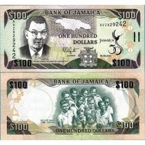 Ямайка 100 долларов 2012 г. 50 лет Независимости