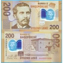 Албания 200 лек 2017 год.
