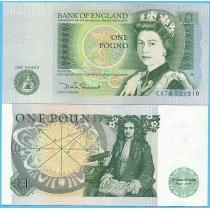 Великобритания 1 фунт 1982 год. Pick377b