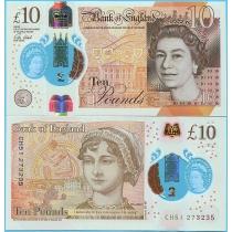 Великобритания 10 фунтов 2016 год.