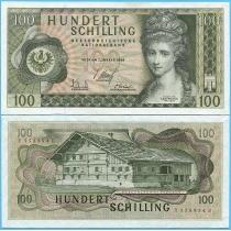 Австрия 100 шиллингов 1969 год.