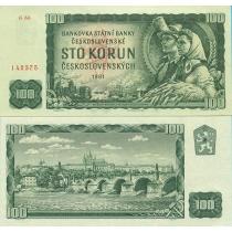 Чехословакия 100 крон 1961 год.