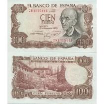 Испания 100 песет 1970 год.
