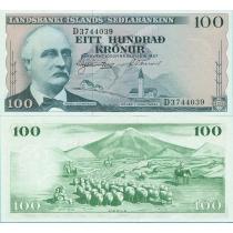 Исландия 100 крон 1957 год.