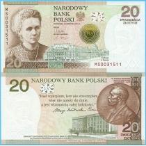 Польша 20 злотых 2011 год. Мария Склодовская-Кюри