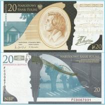 Польша 20 злотых 2009 год. Фредерик Шопен