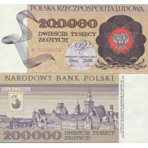 Польша 200000 злотых 1989 г.