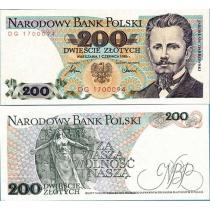 Польша 200 злотых 1986 г.
