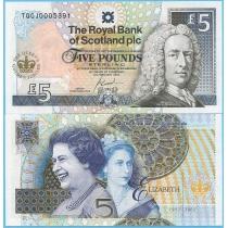 Шотландия 5 фунтов 2002 год. Юбилейная.