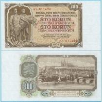 Чехословакия 100 крон 1953 год.
