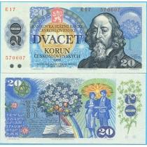 Чехословакия 20 крон 1988 г.