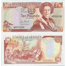 Джерси 10 фунтов 2000 год.