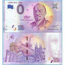 Сувенирная банкнота 0 евро 2019 год. Ленин.