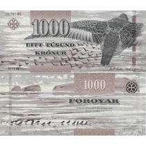 Фарерские острова 1000 крон 2012 г.