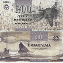 Фарерские острова 200 крон 2011 год.