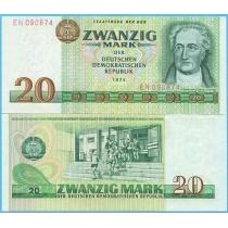 ГДР 20 марок 1975 год.