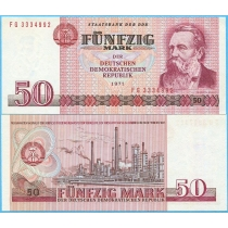 ГДР 50 марок 1971 (1986) год.