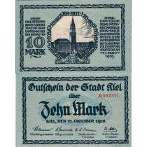 Германия Нотгельд 10 марок 1918 г. Киль