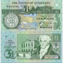 Гернси 1 фунт 1991 г.