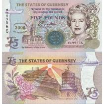 Гернси 5 фунтов 2000 г. Миллениум