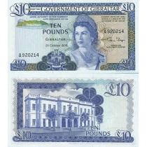 Гибралтар 10 фунтов 1986 год.
