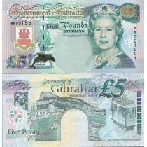 Гибралтар 5 фунтов 2000 год. Миллениум