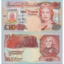 Гибралтар 10 фунтов 1995 год.