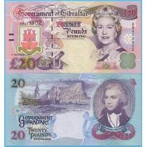 Гибралтар 20 фунтов 2006 год.