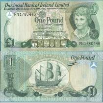 """Северная Ирландия 1 фунт 1997 год. В конверте """"Banknotes of all Nations"""" с маркой."""