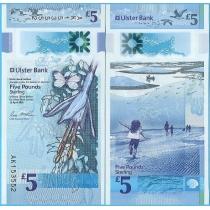 Северная Ирландия (Ulster Bank) 5 фунтов 2018 год.