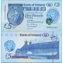 Северная Ирландия (Bank of Ireland) 5 фунтов 2017 год.