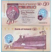 Северная Ирландия (Bank of Ireland) 10 фунтов 2017 год.