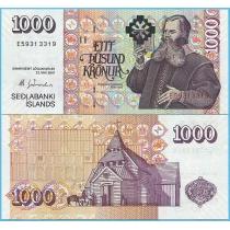 Исландия 1000 крон 2001 (2009) год.