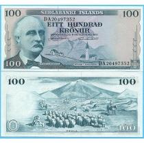 Исландия 100 крон 1961 год.