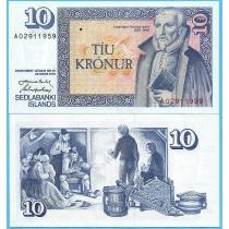 Исландия 10 крон 1961 (1984) год.