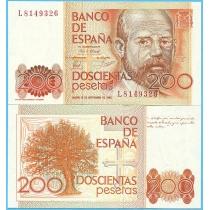 Испания 200 песет 1980 год.